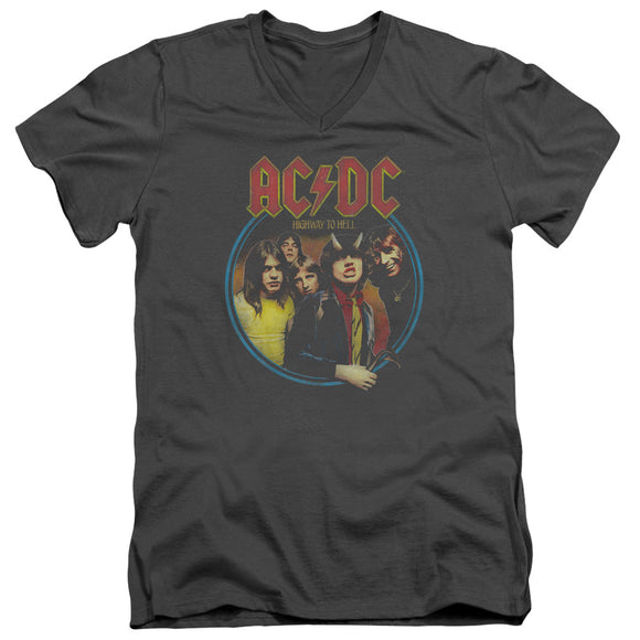 Acdc - Highway To Hell Short Sleeve Adult V Neck