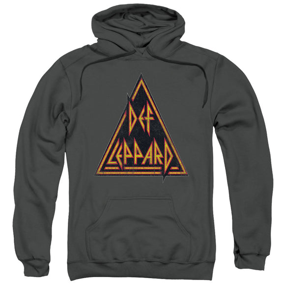 Def Leppard - Distressed Logo Adult Pull Over Hoodie
