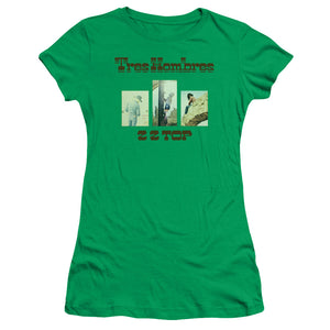 Zz Top - Tres Hombres Short Sleeve Junior Sheer
