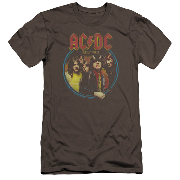 Acdc - Highway To Hell Premium Canvas Adult Slim Fit 30/1