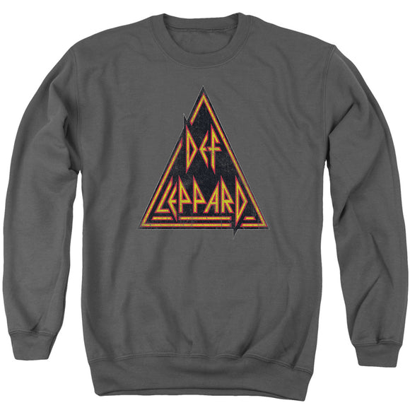 Def Leppard - Distressed Logo Adult Crewneck Sweatshirt