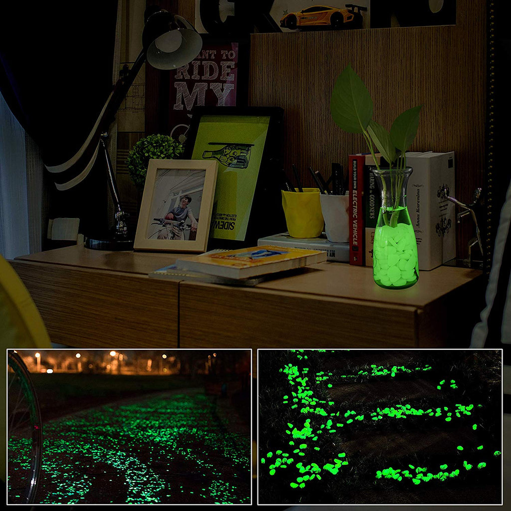 """Color mixing Night Stones""(100pcs)- Glow-in-the-Dark Garden Pebbles"