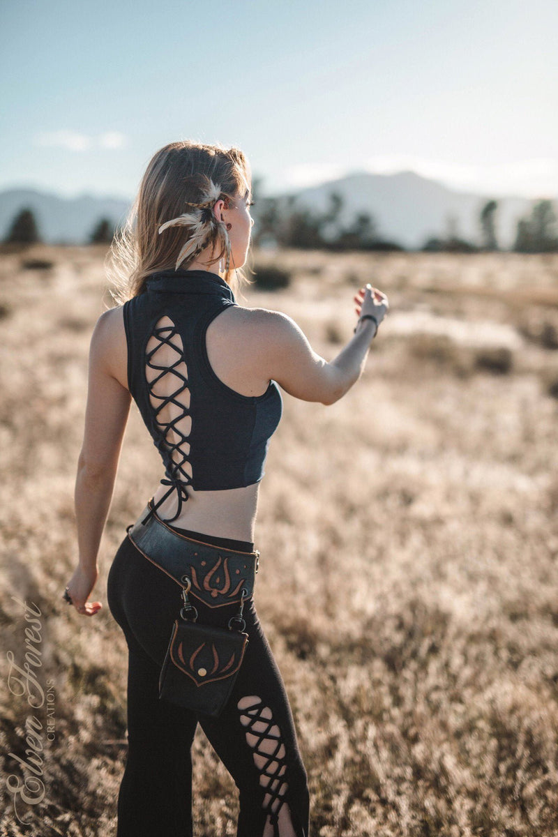 Summer Love Lace-up back tank