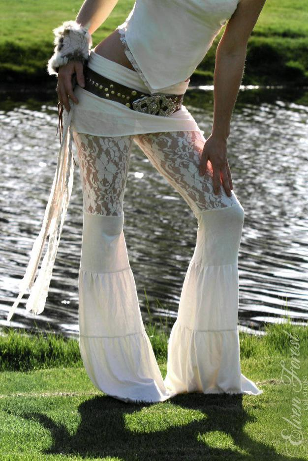Lace Pants in Ivory