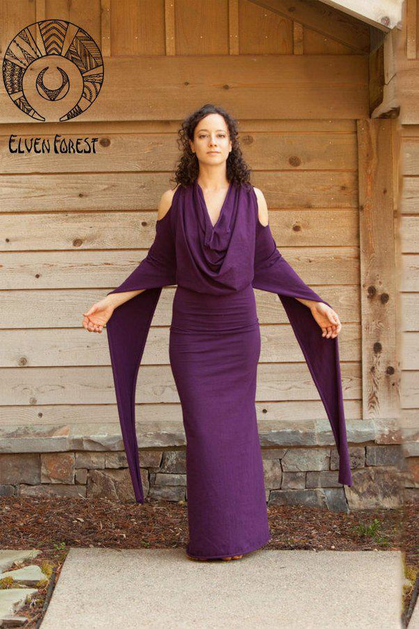 Sabriel Adventure Dress - Elven Forest, Convertible dress, Festival clothing