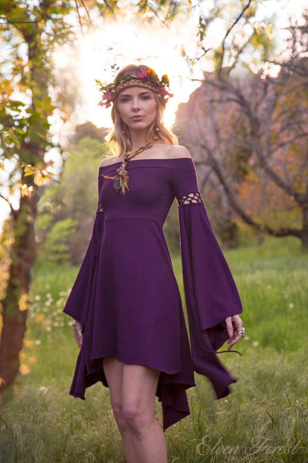 Summer's Eve Dress ~ Elven Forest, Festival Clothing, Ren Faire