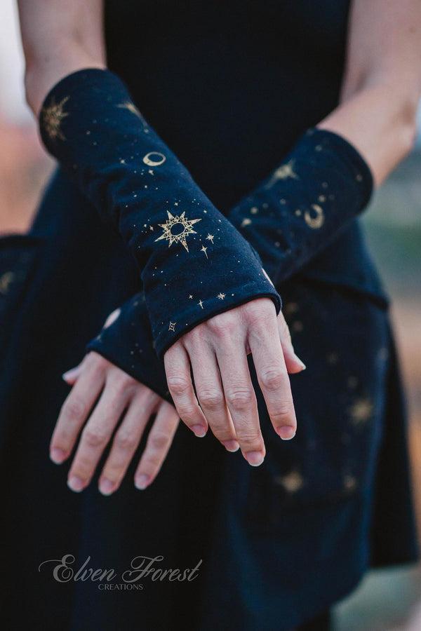 Celestial Fingerless Gloves