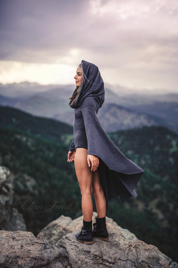 Hooded Cape Onesie ~ Elven Forest, Festival clothing, Goddess Clothing, Burning Man Costume