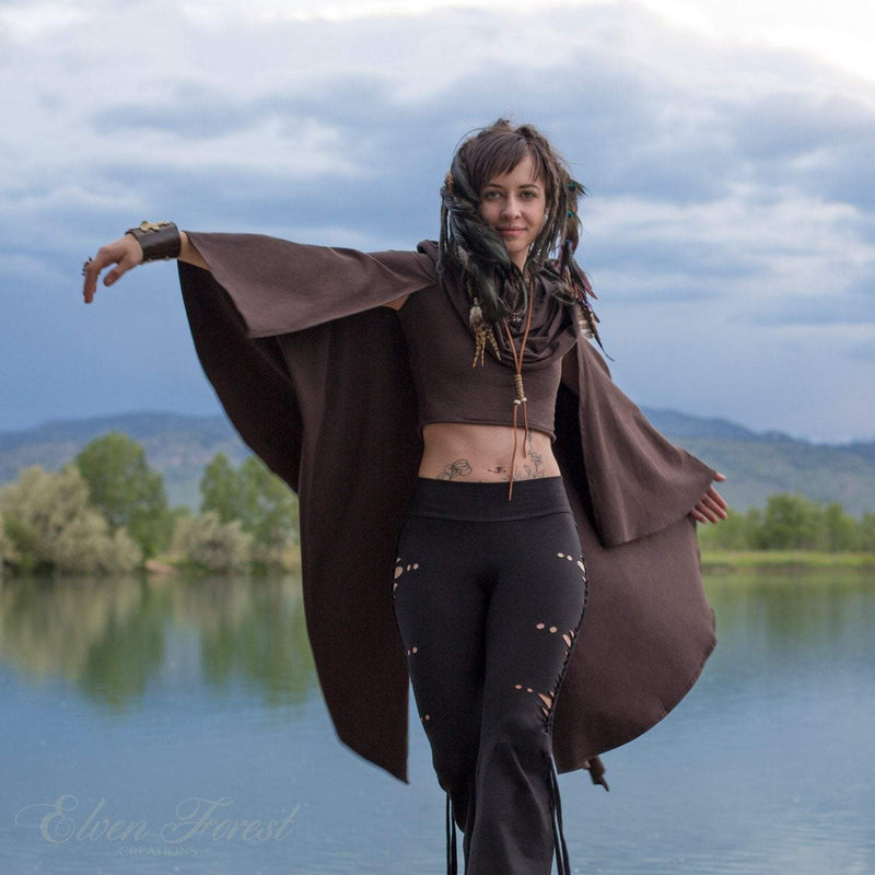 Aiwaya Pants- with simple flares - can wear them down or tie them up ~ Elven Forest Pants