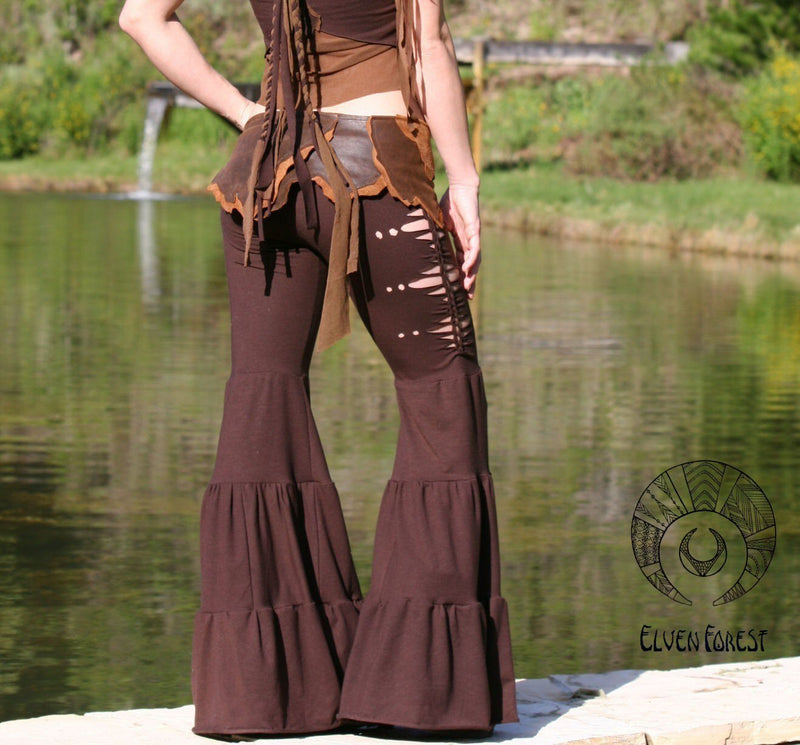 Aiwaya Pants - Elven Forest, Festival Clothing, Goddess Dance Pants
