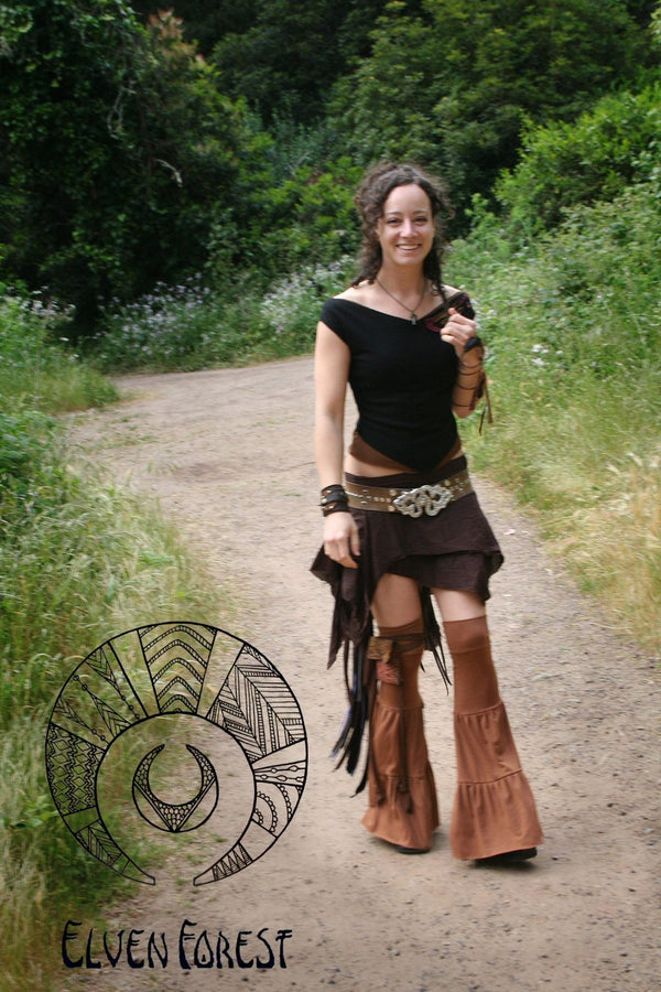 Temple Leg Flares ~ Elven Forest, Festival Clothing