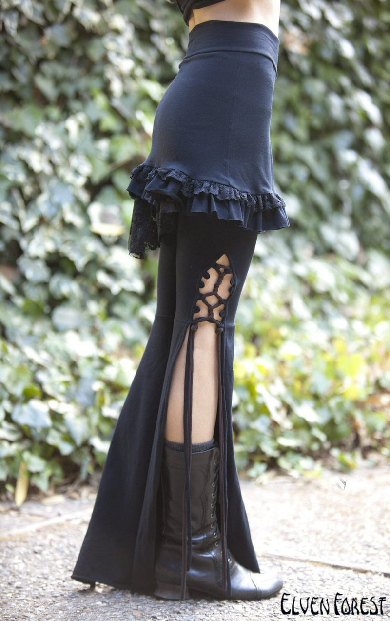 Tassel Lace Up Dance Pants -in Black - you choose your color strings