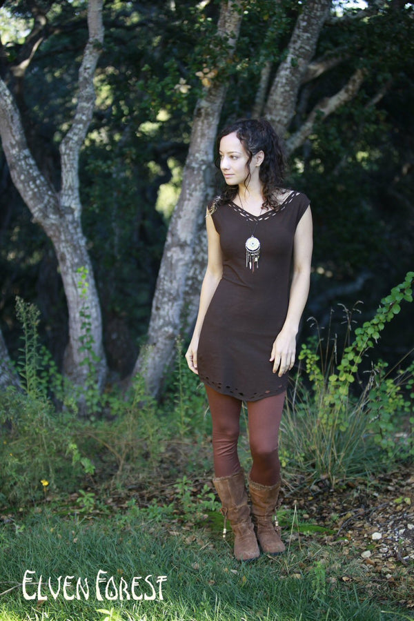 Weave Me Wings Pixie Dress in Black or brown