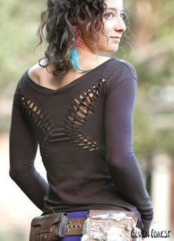 Weave Me Wings Top - Long Sleeved Version with thumb holes
