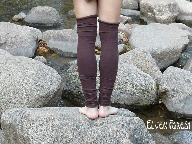 TWO Pairs of Extra Long Cotton Leg Warmers ~ Doubled Listing