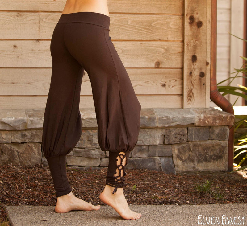 Lace Up Yoga Harem Pant with Cut Out lace up Ankle