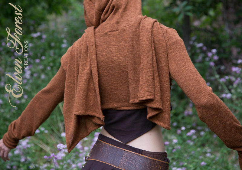 Cropped Sweater Wrap - throw jacket hoodie