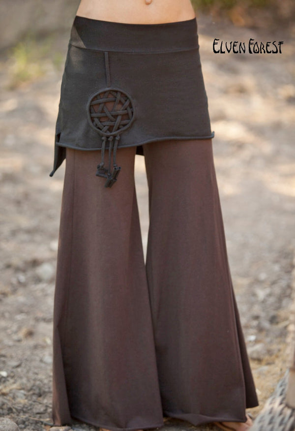 Dream Catcher Star Skirt - Longer Back - Elven Forest, Celtic Knot, Seed of life, Festival Clothing, Gypsy clothing, mini skirt