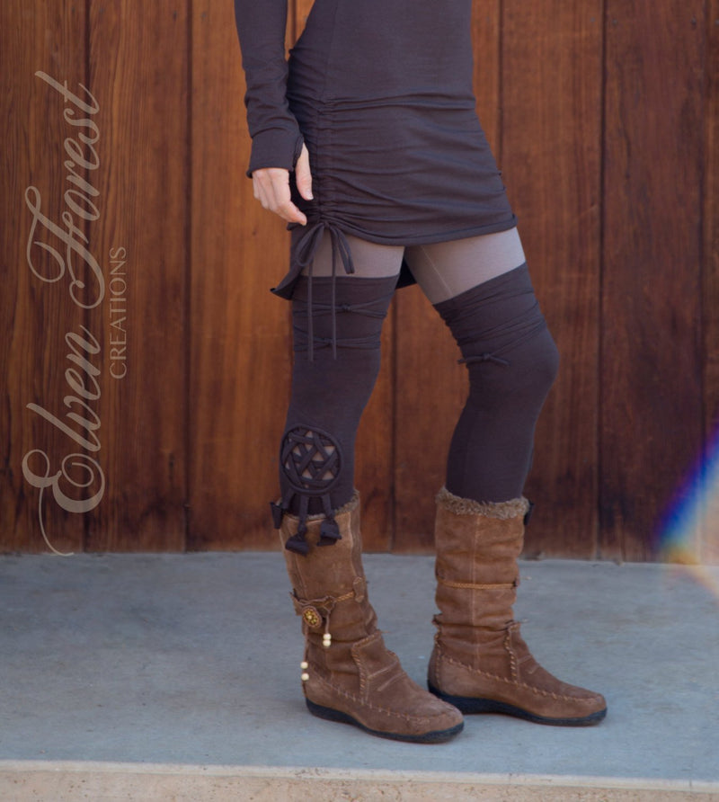 Geometry Cut Out Leg Warmers ~ extra long ~ choose your cut out