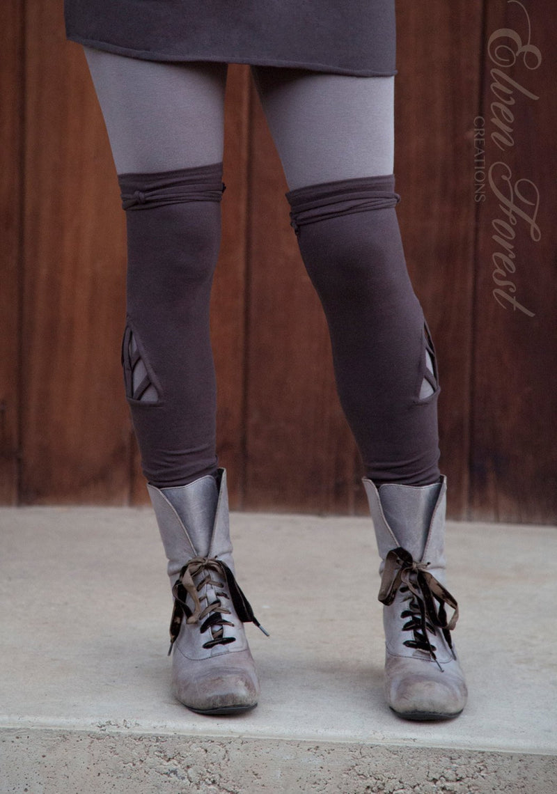 Triangle Chevron Cut Out Leg Warmers ~ great over leggings!