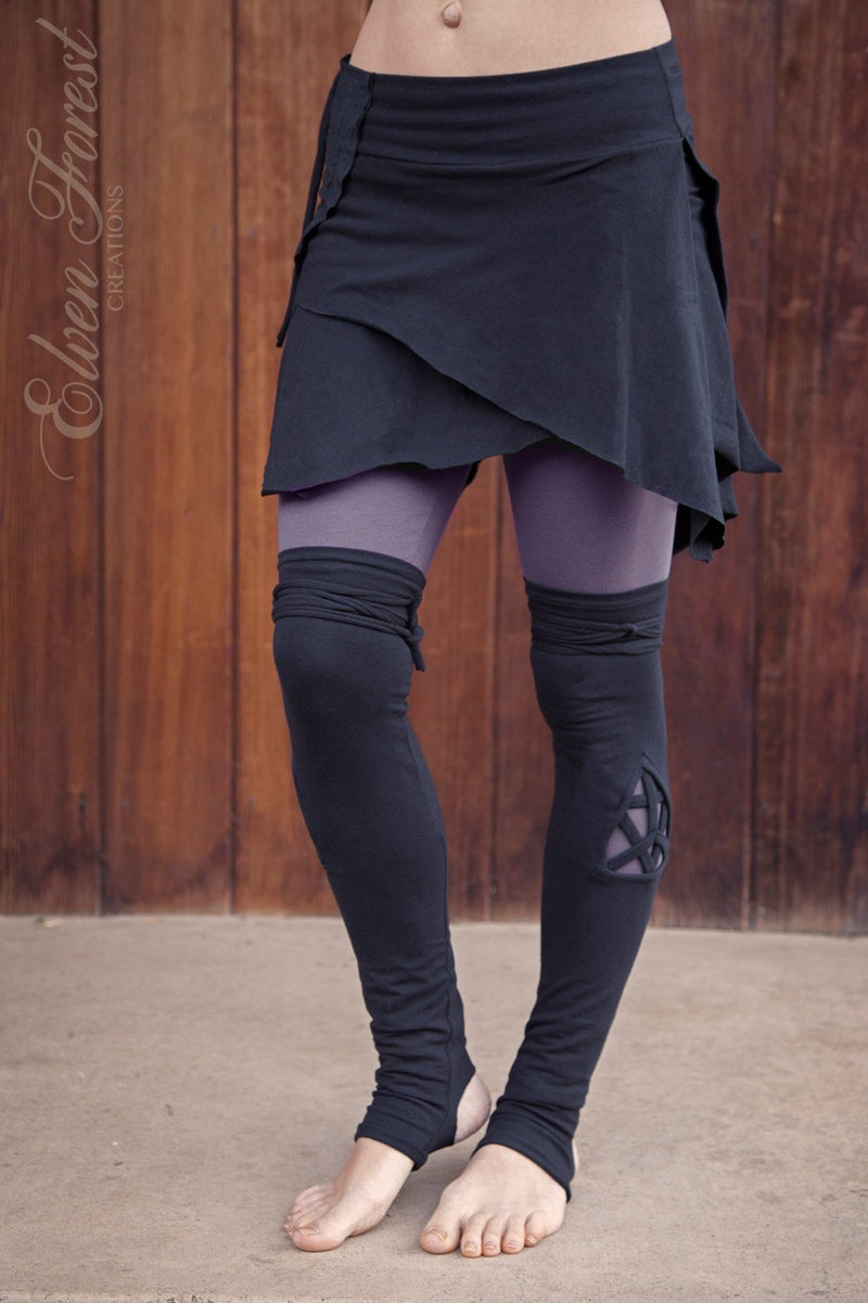 Triangle Cut Out Leg Warmers ~ great over leggings!