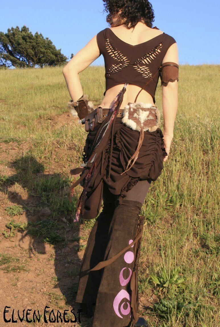 Weave Me Wings Pointed Crop Top - Elven Braided Cut Out Fairy Wings Shirt