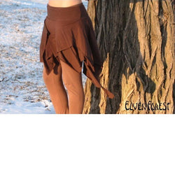 Stretchy Pixie Skirt - in black or brown