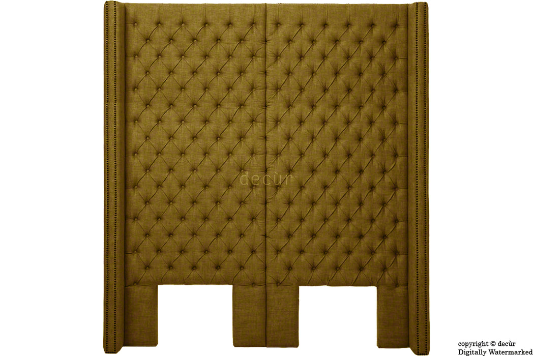 Beauchamp Buttoned Courtyard Linen Headboard Coffee