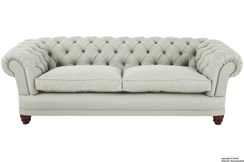 Abbotsford Linen Chesterfield Sofa - Natural