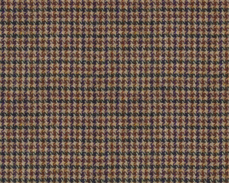 Malcolm Campbell Harris Tweed Wolf Tooth Fabric - Glen Monarch Heather