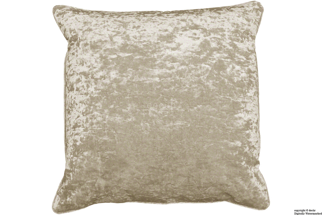 Serenity Crushed Velvet Cushion - Mink