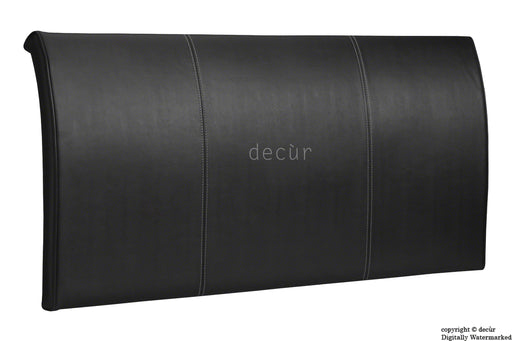 Alpha Sleigh Headboard Black