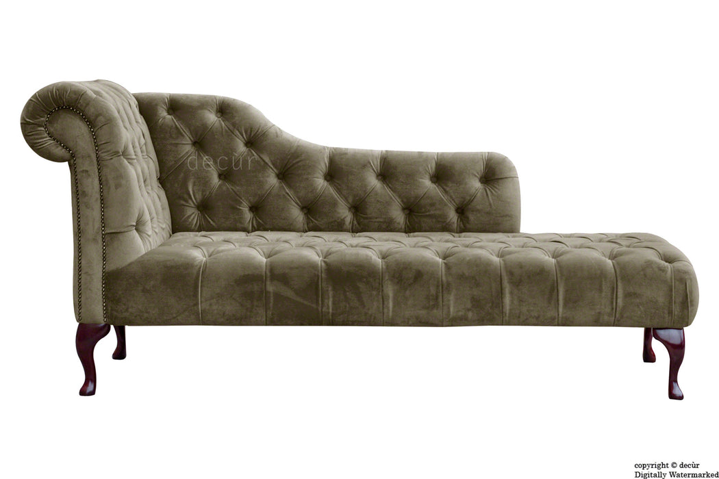 Paloma Velvet Chaise Lounge - Taupe