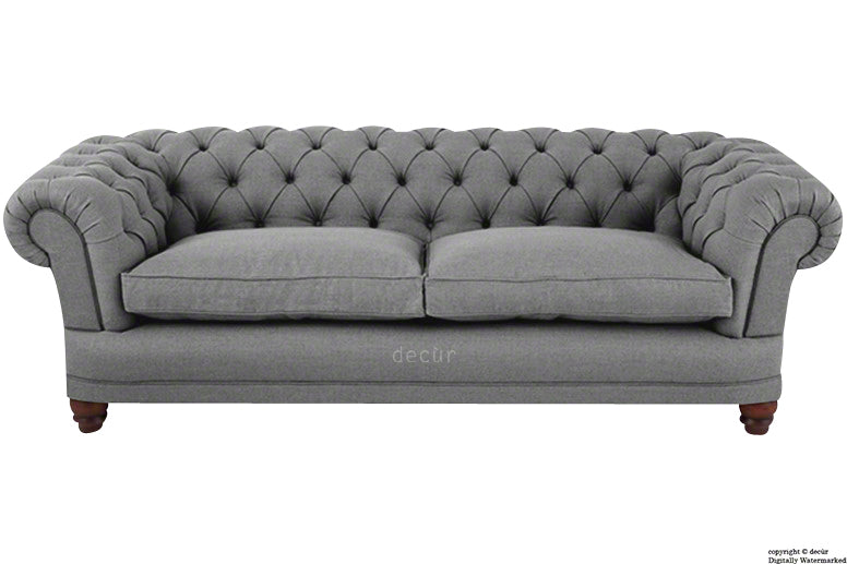 Abbotsford Linen Chesterfield Sofa Grey Decur Co Uk