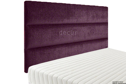 Amy High Headboard - Aubergine