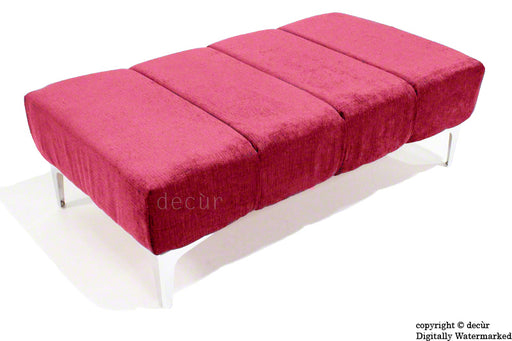 Abi Footstool - Pink with Optional Storage