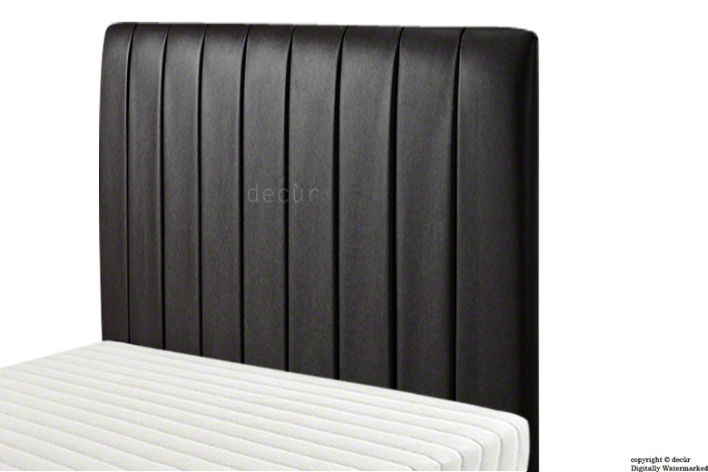 Petra Headboard Faux Leather - Black