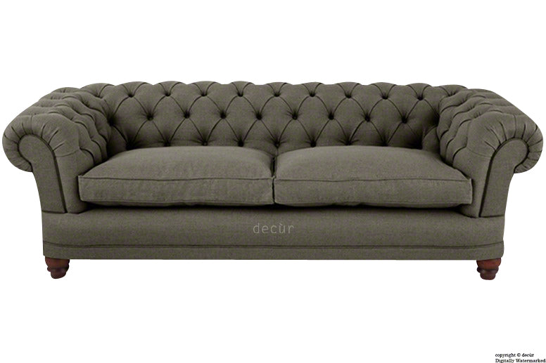 Abbotsford Linen Chesterfield Sofa - Bark