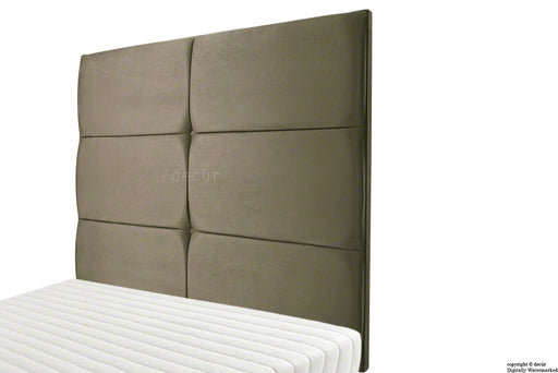 Bardi Wall High Velvet Headboard - Taupe