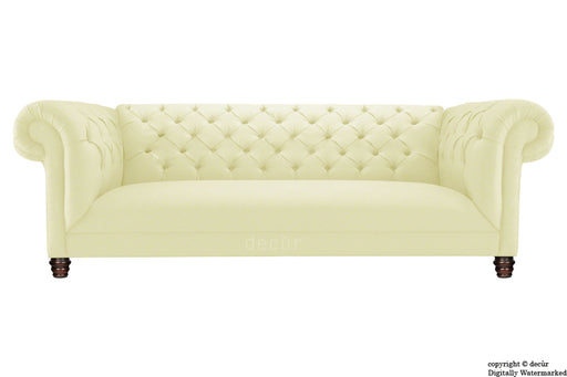 Albert Chesterfield Linen Sofa - Beige