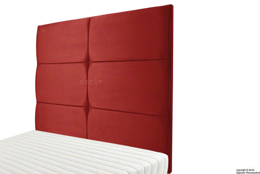 Bardi Wall High Velvet Headboard - Red