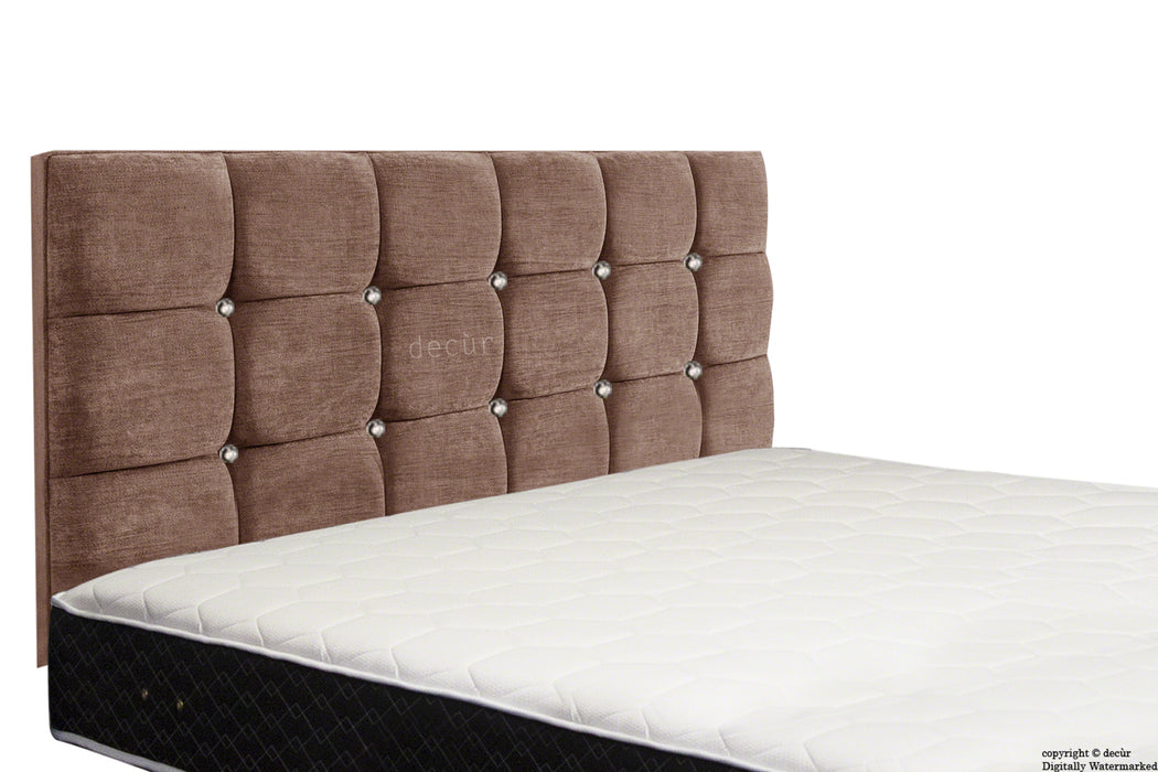 Grace Mila Buttoned 3 Tier Headboard - Chestnut