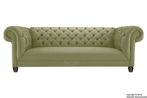 Albert Chesterfield Linen Sofa - Fudge