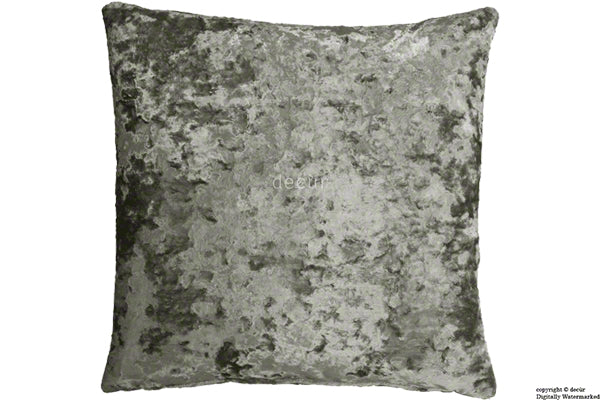 London Crushed Velvet Cushion - Mistral