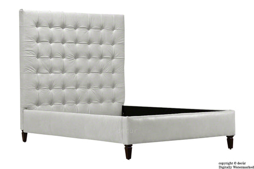 Grace Upholstered Leather Bed - White (Faux Leather Options)