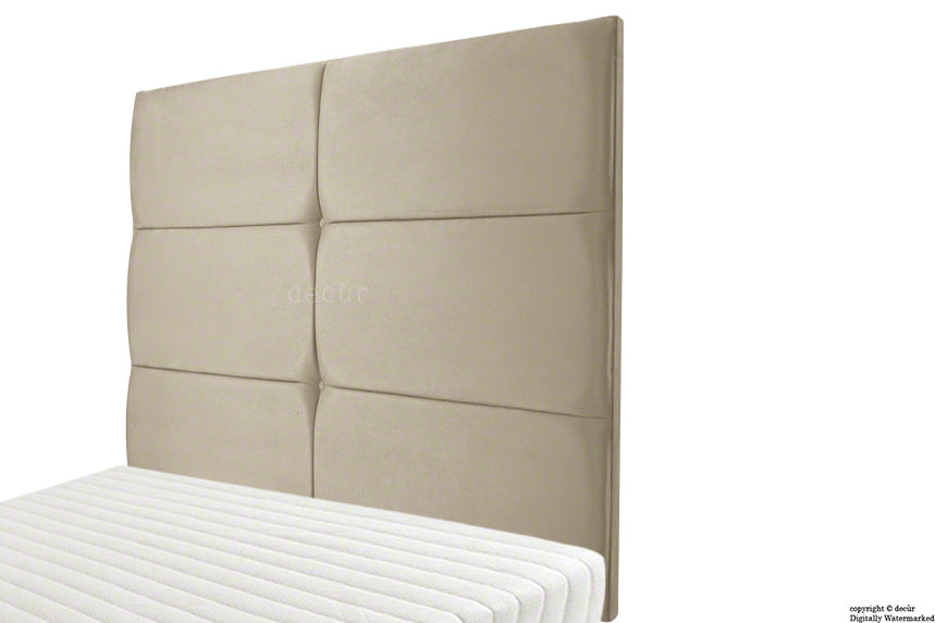 Bardi Wall High Velvet Headboard - Putty
