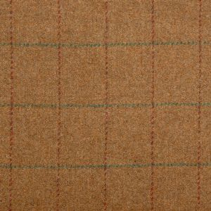 Harris Tweed Hunstman Check Fabric - Burnt Umber