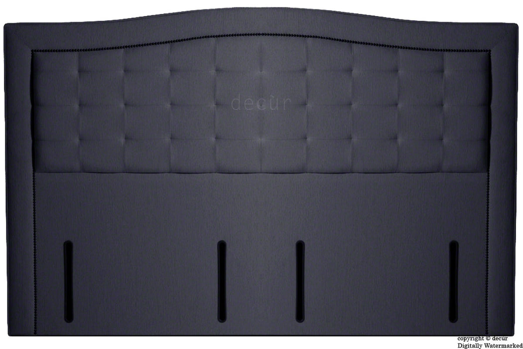Paris Buttoned Chenille Headboard - Charcoal