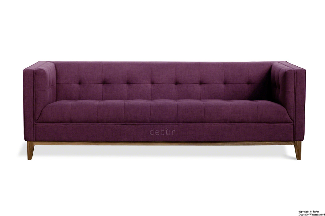 The Fifty Nine Linen Sofa - Aubergine