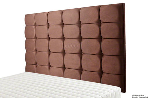Grace Mila Faux Suede Buttoned Headboard - Brown